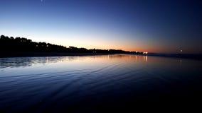 Salida del sol de la costa Foto de archivo libre de regalías