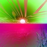 Salida del sol de la fantasía de Marte Imagen de archivo libre de regalías
