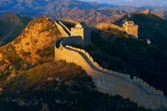 Salida del sol de la Gran Muralla Fotos de archivo libres de regalías