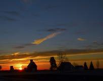 Salida del sol de la granja Imagen de archivo