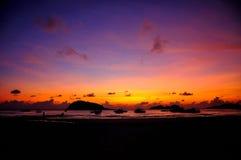 Salida del sol de la isla de Redang Imágenes de archivo libres de regalías