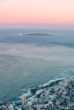 Salida del sol de la isla de Robben Imagen de archivo