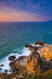 Salida del sol de la isla Hainan del wuzhizhou fotos de archivo