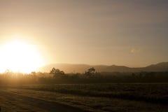 Salida del sol de la mañana en Australia Foto de archivo libre de regalías