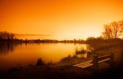 Salida del sol de la madrugada imagen de archivo libre de regalías