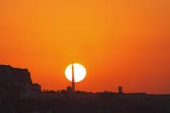 Salida del sol de la mezquita Imagen de archivo