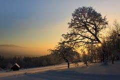 Salida del sol de la montaña Fotografía de archivo libre de regalías