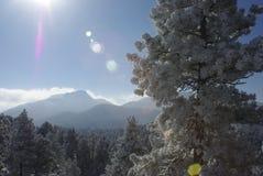 Salida del sol 6 de la montaña Fotografía de archivo