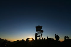 Salida del sol de la mucha altitud Imagen de archivo