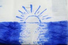 Salida del sol de la playa de la tinta Fotos de archivo