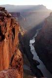 Salida del sol de la punta de Toroweap de la barranca magnífica fotografía de archivo