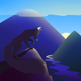 Salida del sol de la reunión del zorro del vector libre illustration