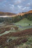 Salida del sol de Langdale Imagen de archivo libre de regalías