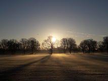 Salida del sol de Londres Fotografía de archivo