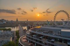 Salida del sol de Londres Foto de archivo libre de regalías