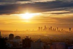 Salida del sol de Los Ángeles Imágenes de archivo libres de regalías