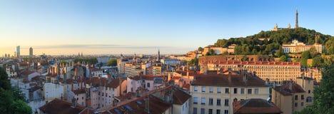 Salida del sol de Lyon Foto de archivo