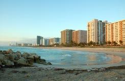 Salida del sol de Miami Fotos de archivo