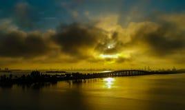 Salida del sol de Miami Fotos de archivo libres de regalías
