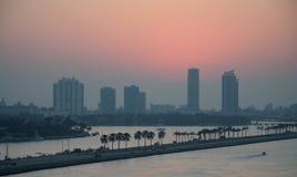 Salida del sol de Miami Beach foto de archivo