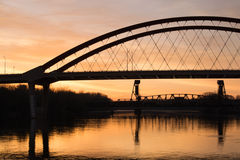 Salida del sol de Minnesota Fotos de archivo libres de regalías