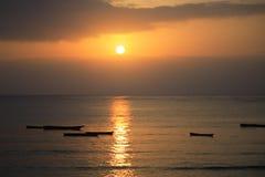 Salida del sol de Mombassa Foto de archivo libre de regalías