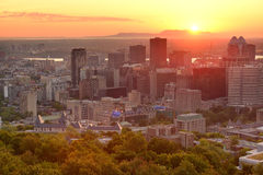 Salida del sol de Montreal imagenes de archivo