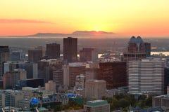 Salida del sol de Montreal foto de archivo