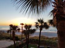 Salida del sol de Myrtle Beach foto de archivo libre de regalías