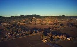 Salida del sol de Napa Valley Imagen de archivo libre de regalías