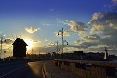 Salida del sol de Nessebar Imagenes de archivo