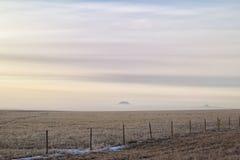 Salida del sol de niebla Fotografía de archivo libre de regalías