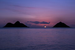 Salida del sol de Oahu imagenes de archivo
