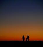 Salida del sol de observación Fotografía de archivo