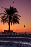 Salida del sol de Oriente Medio Foto de archivo libre de regalías