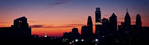 Salida del sol de Philadelphia Foto de archivo libre de regalías