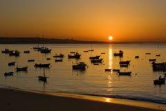 Salida del sol de Portugal Imagen de archivo libre de regalías