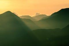 Salida del sol de Rinjani del soporte Fotos de archivo