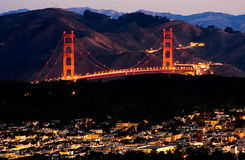 Salida del sol de San Francisco Imagenes de archivo