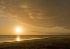 Salida del sol de Seaburn Fotos de archivo libres de regalías