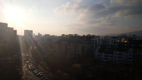 Salida del sol de Sofía Fotografía de archivo