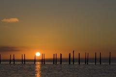 Salida del sol de Solent Imagenes de archivo