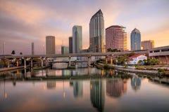 Salida del sol de Tampa fotografía de archivo