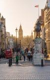 Salida del sol de Trafalgar Square Foto de archivo libre de regalías