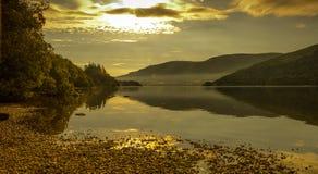 Salida del sol de Ullswater Imagen de archivo libre de regalías