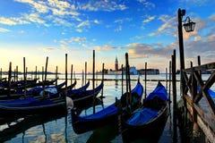 Salida del sol de Venecia Fotografía de archivo