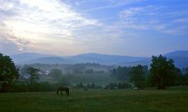 Salida del sol de Virginia Foto de archivo