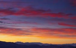 Salida del sol de Washoe Fotografía de archivo