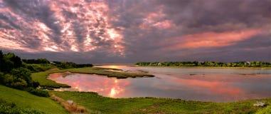 Salida del sol del bacalao de cabo Foto de archivo libre de regalías