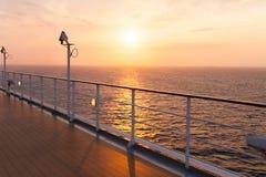 Salida del sol del barco de cruceros Foto de archivo libre de regalías